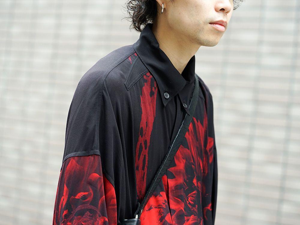 Yohji Yamamoto 19SS Red Print Blouse Style - 2-002