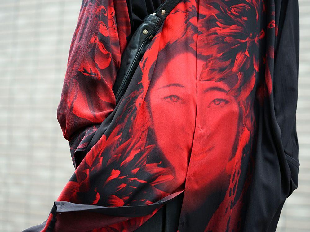 Yohji Yamamoto 19SS Red Print Blouse Style - 2-003