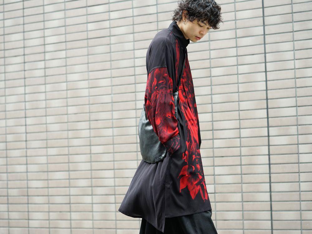 Yohji Yamamoto 19SS Red Print Blouse Style - 4-002