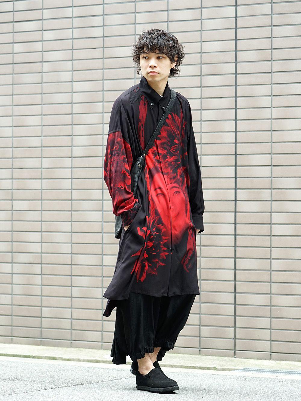 Yohji Yamamoto 19SS Red Print Blouse Style - 4-004