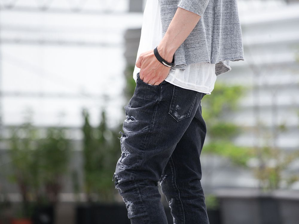 .LOGY kyoto 19SS  [ CRASH DENIM PANTS ] STYLING!!! - 3-003