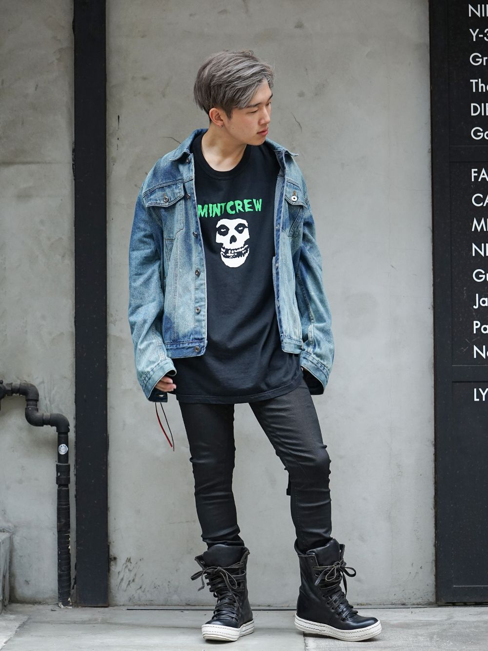 MINT CREW × Misfits Collaboration tee Styling - 1-001