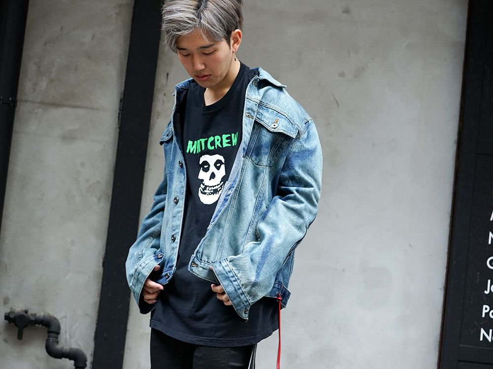 MINT CREW × Misfits Collaboration tee Styling - 2-001