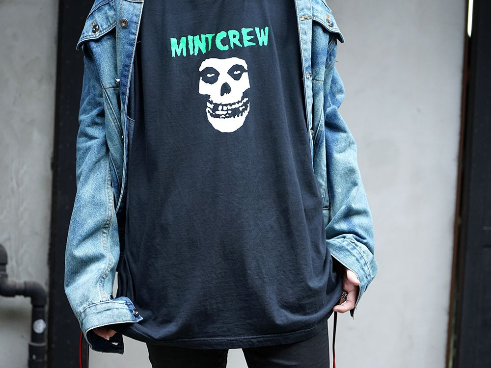 MINT CREW × Misfits Collaboration tee Styling - 2-007