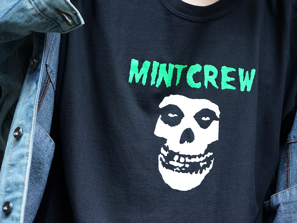MINT CREW × Misfits Collaboration tee Styling - 2-008