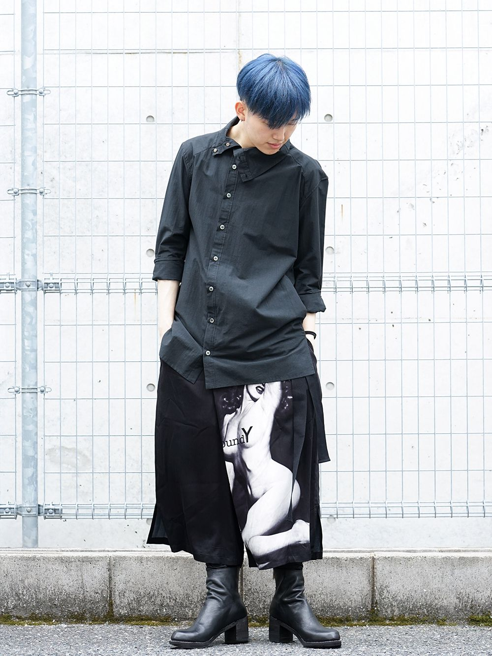 Ground Y × Marilyn Monroe collaboration Wrap belt pants styling!! - 1-001