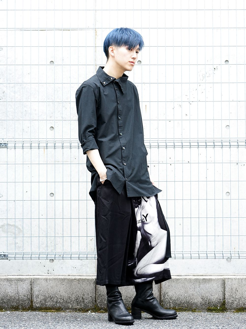 Ground Y × Marilyn Monroe collaboration Wrap belt pants styling!! - 1-004