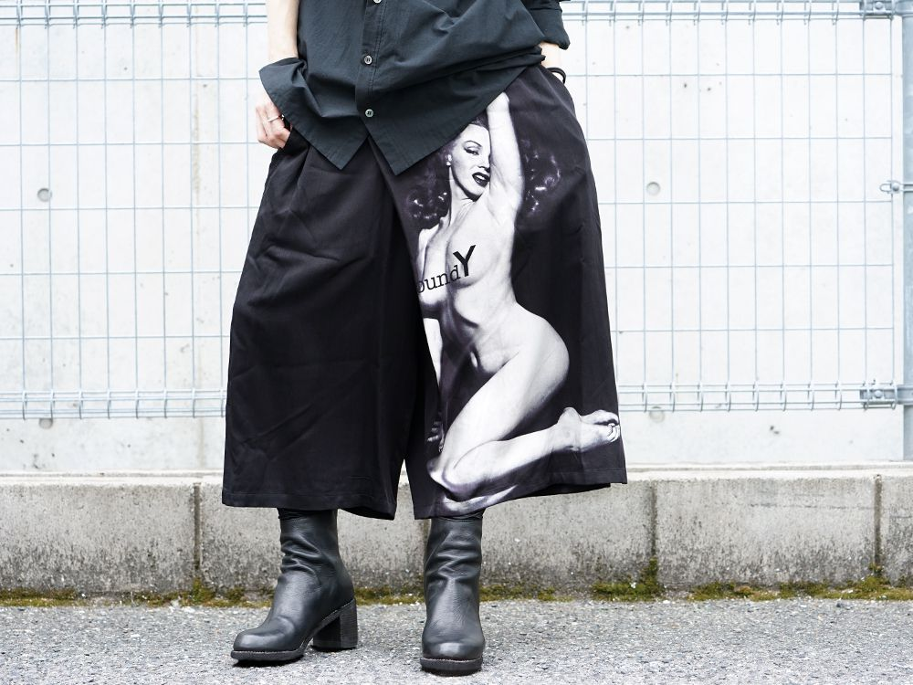 Ground Y × Marilyn Monroe collaboration Wrap belt pants styling!! - 3-001
