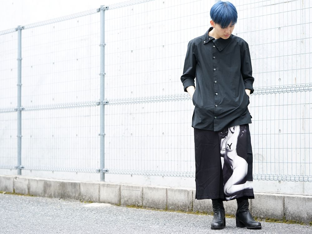 Ground Y × Marilyn Monroe collaboration Wrap belt pants styling!! - 4-001