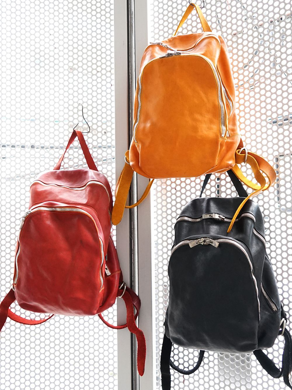 GUIDI Soft Horse Leather Back Pack 3 colors - 1-001