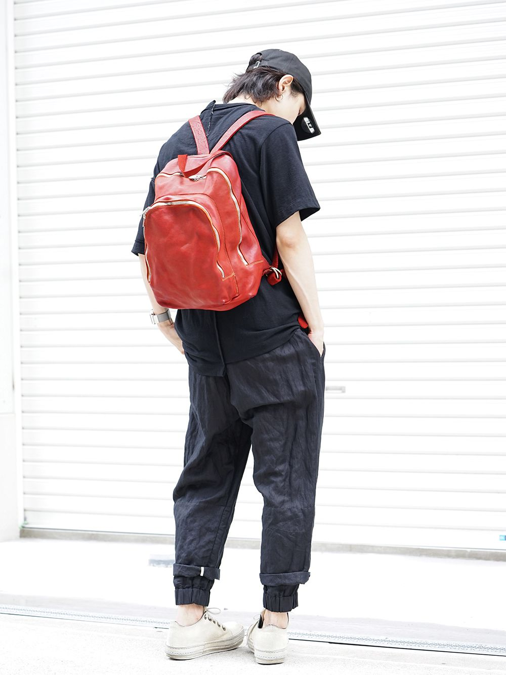 GUIDI Soft Horse Leather Back Pack 3 colors - 2-001
