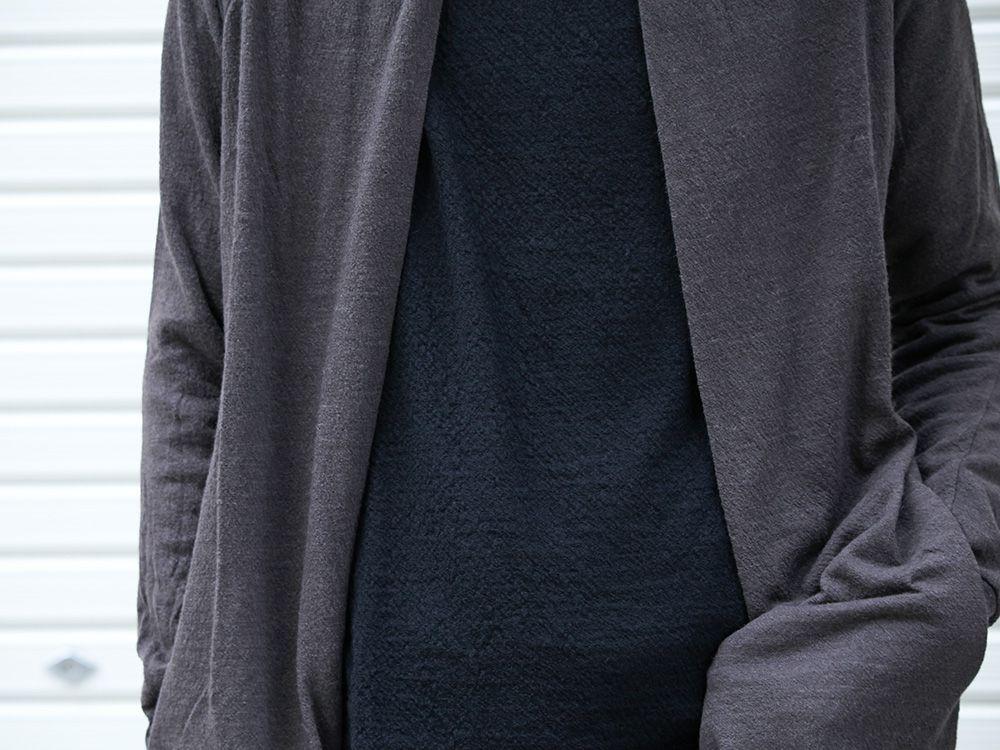 DEVOA 19-20AW wool x alpaca jersey Cardigan Style - 2-005