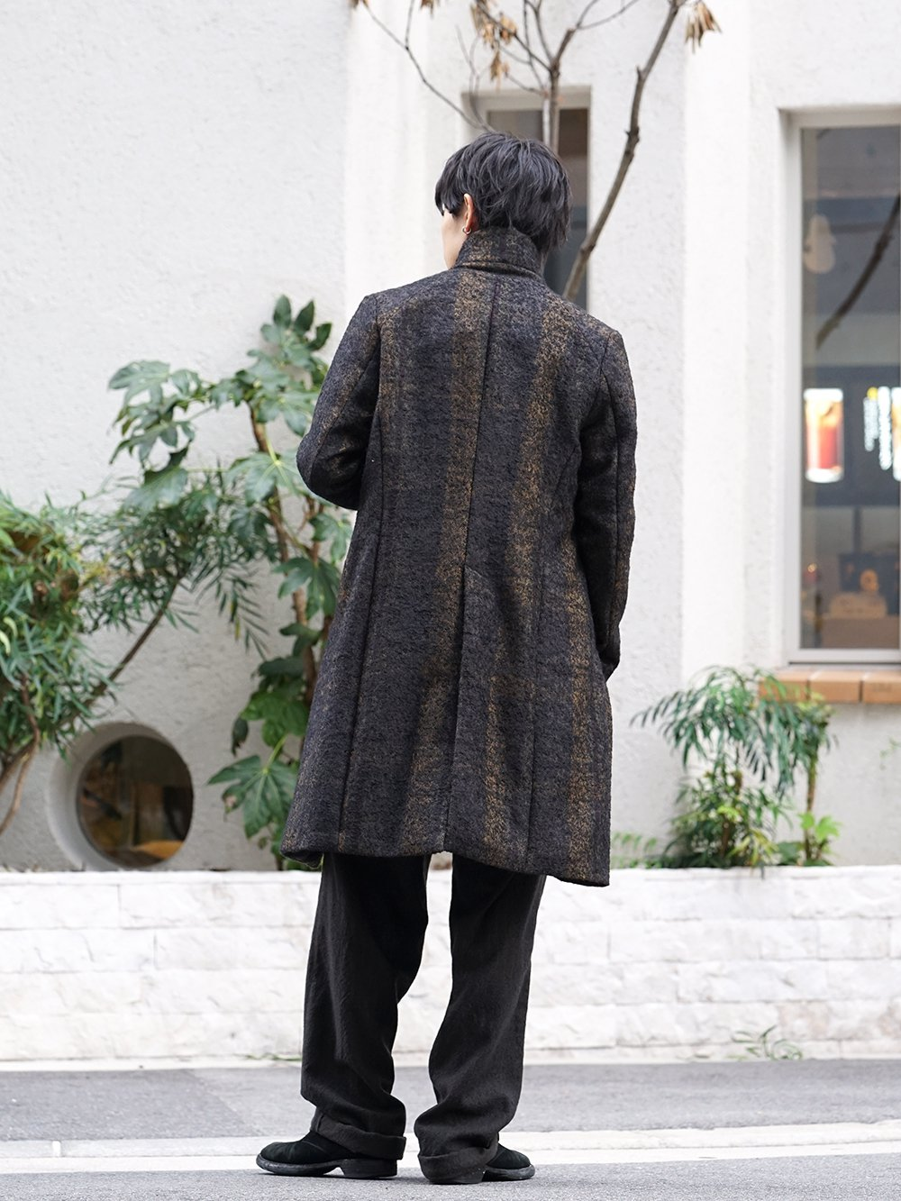 hannibal 19-20AW Needle Punch Check Coat Style - 1-003