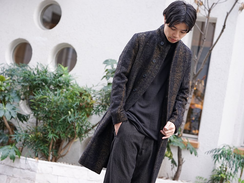 hannibal 19-20AW Needle Punch Check Coat Style - 2-001