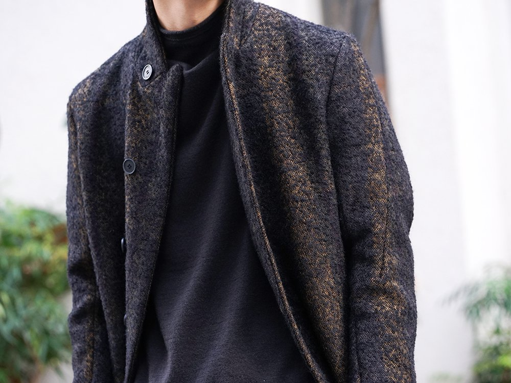 hannibal 19-20AW Needle Punch Check Coat Style - 2-002