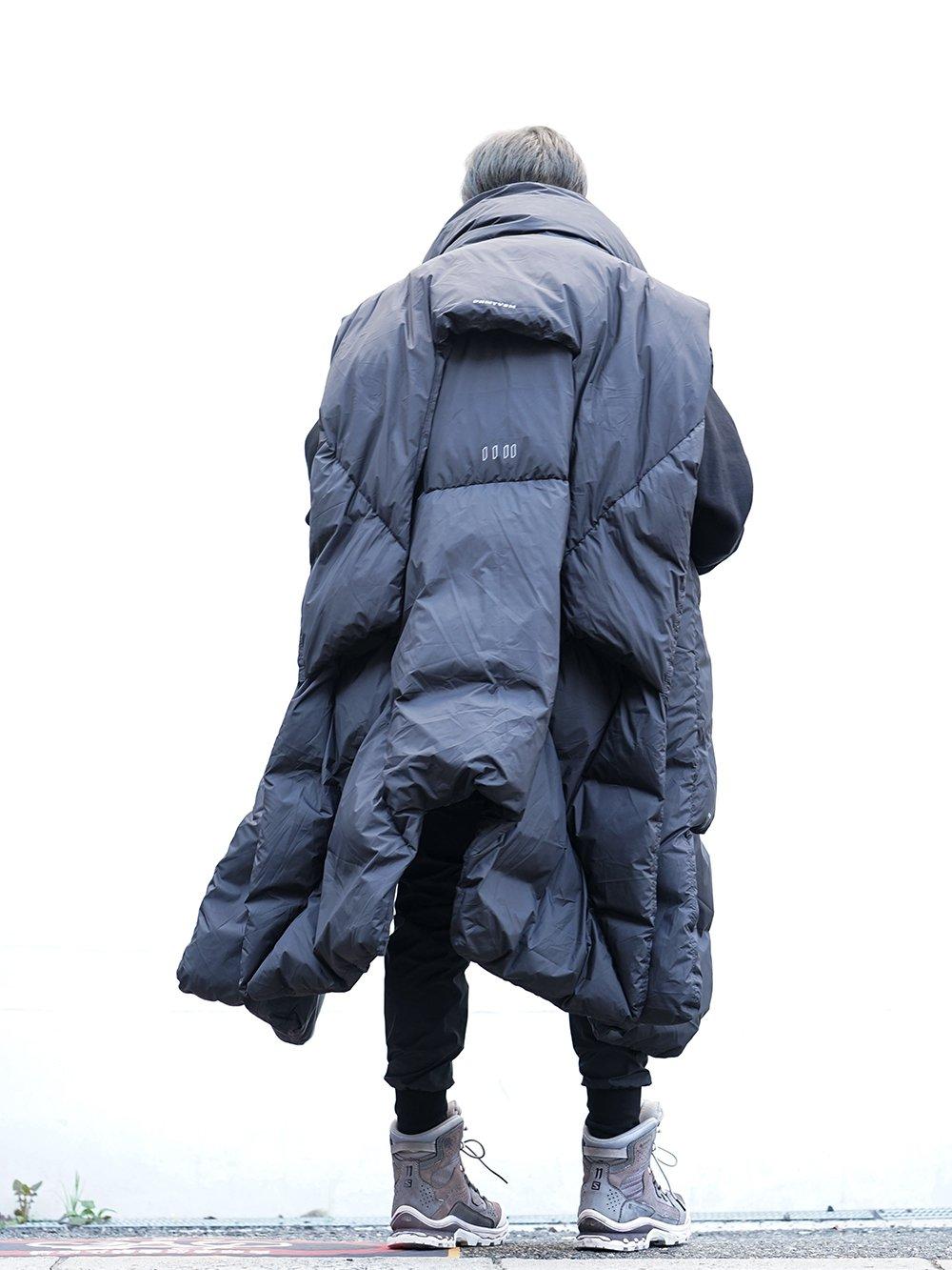 HAMCUS × NILøS 19aw Down long vest Black Styling!! - 1-003
