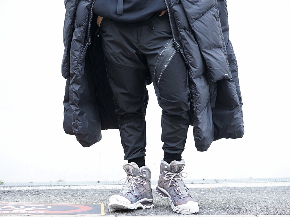 HAMCUS × NILøS 19aw Down long vest Black Styling!! - 3-002