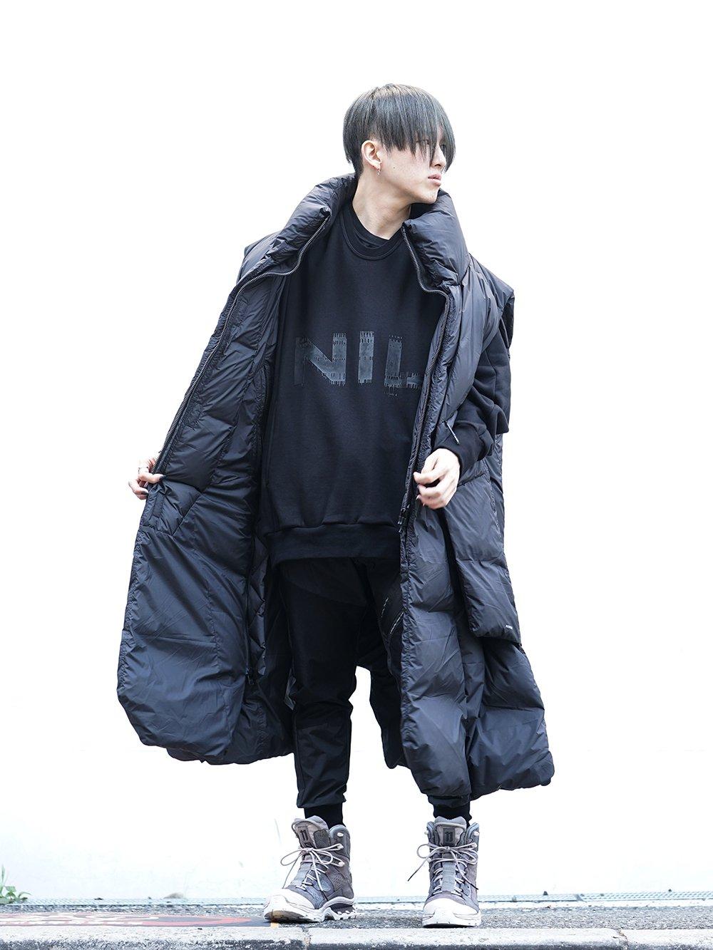 HAMCUS × NILøS 19aw Down long vest Black Styling!! - 4-001
