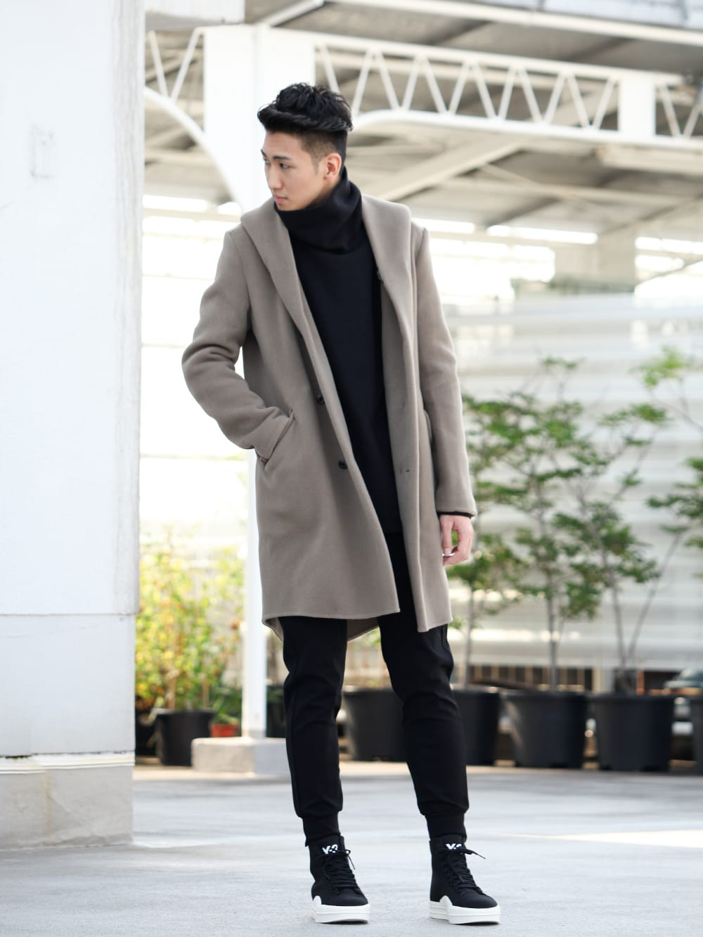 .LOGY kyoto 19-20AW ATTACHMENT 【Cashmere mixed double face beaver hooded coat】 STYLE!! - 1-001