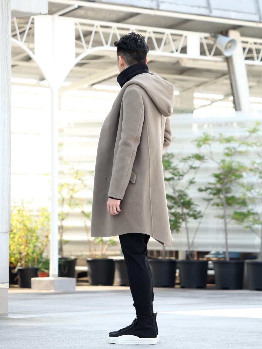 .LOGY kyoto 19-20AW ATTACHMENT 【Cashmere mixed double face beaver hooded coat】 STYLE!! - 1-002