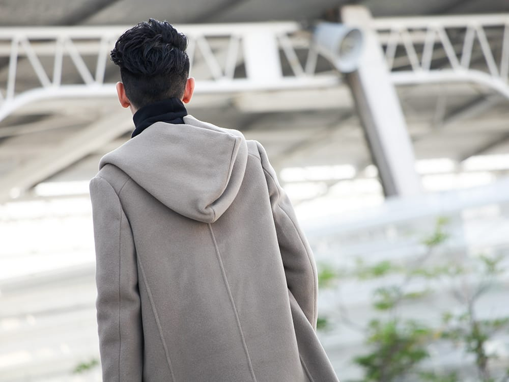 .LOGY kyoto 19-20AW ATTACHMENT 【Cashmere mixed double face beaver hooded coat】 STYLE!! - 2-006