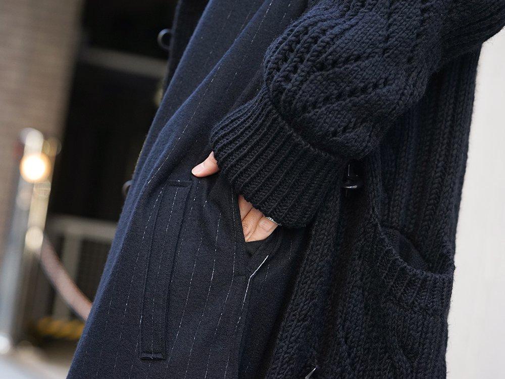Yohji Yamamoto 19-20AW No Collar Long Cardigan Layered Style - 2-004
