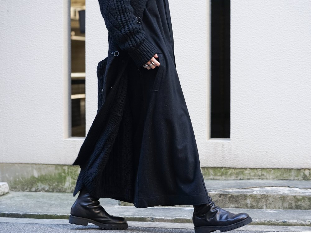 Yohji Yamamoto 19-20AW No Collar Long Cardigan Layered Style - 3-003