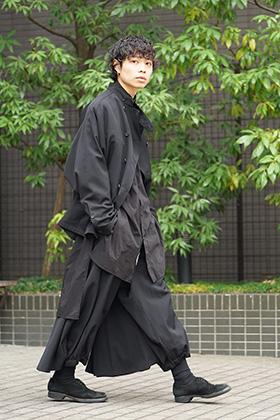 Yohji Yamamoto 19SS All Black Layered Style