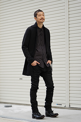D.Hygen Medium Heavy jersey long cardigan Style