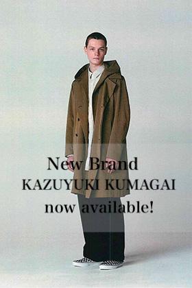 New Brand, KAZUYUKI KUMAGAI, now available!