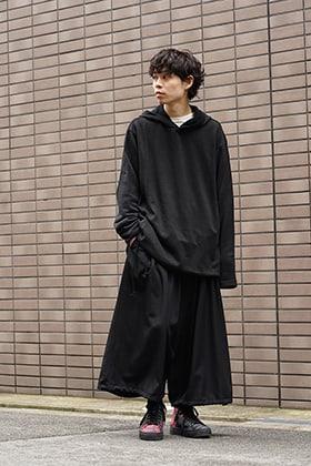 Yohji Yamamoto 19SS String Hem Hoodie Style