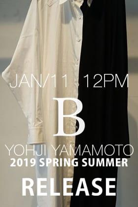 [Release Notice]Yohji Yamamoto 19SS Releasing on 11th January 12 PM!