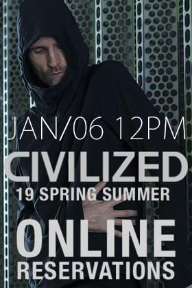 [Release Date Notice] CIVILIZED 19SS Online Reservations