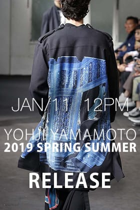 [Release Notice]Yohji Yamamoto 19SS Releasing on 11th January 12 PM!