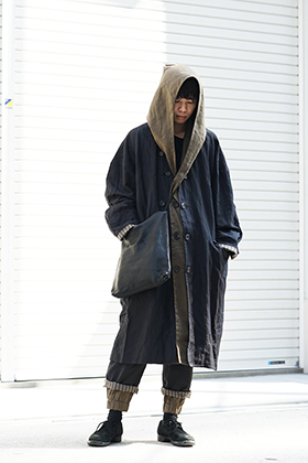 ZIGGY CHEN 19SS Layered Hooded Coat Style