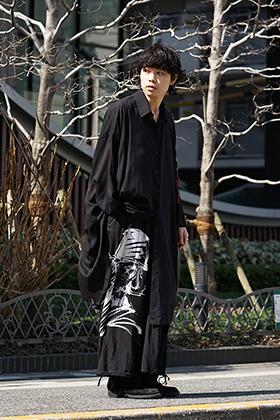 B Yohji Yamamoto 19SS BLACK SCANDAL Print Item Style