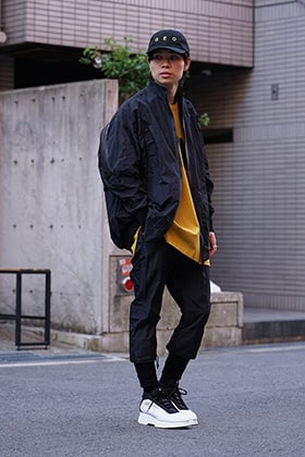 NILøS 19SS Bright taffeta Set up Style