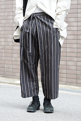 ZIGGY CHEN 19SS Striped Relax cropped pants Style