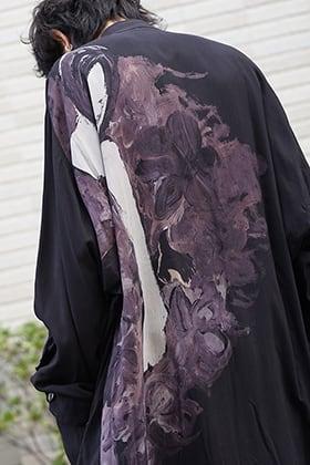 Yohji Yamamoto 19SS W Stand Back Print Coat Style