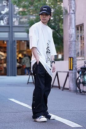 DRKSHDW 19SS Jumbo Tee & Easy Pushers pants Style