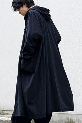 Ground Y Open front big dress with hood Style