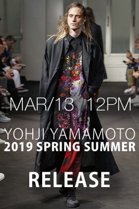 [Release Notice]Yohji Yamamoto 19SS Releasing on 13th March 12 PM