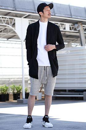 .LOGY kyoto 19SS [ RIPVANWINKLE ] White × Gray Shorts Styling!