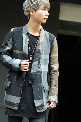 The Viridi-anne 2019SS Check kimono jacket