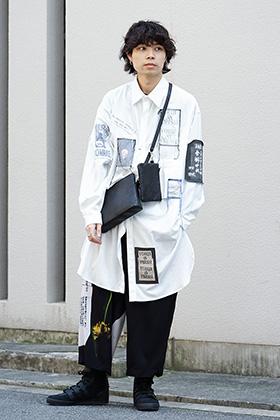Yohji Yamamoto 19SS Patchwork  Shirt Style