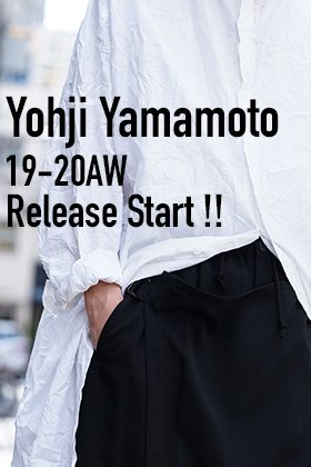 Yohji Yamamoto 19-20AW Start Release Now!