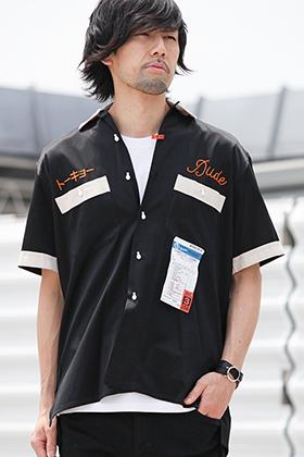 19SS Maison MIHARAYSUHIRO [ W-NECK BOWLING SHIRT ] Styling !!