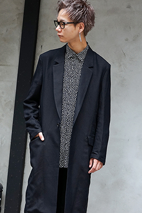 GalaabenD 19S Long jacket & Leopard dot print shirt Style