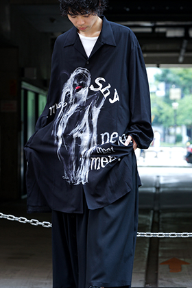 B Yohji Yamamoto I'M SO SHY Long Shirts Style