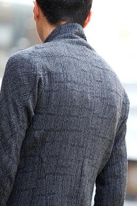 D.HYGEN Wool jacquard Zip shirts Style